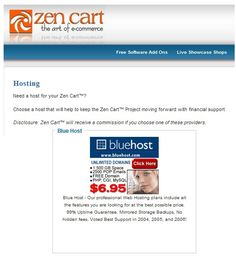 best ecommerce web hosting recommended by Zencart official