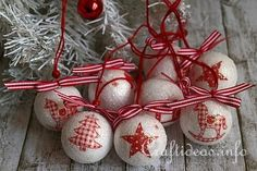 Decoupage Christmas Ornaments 1