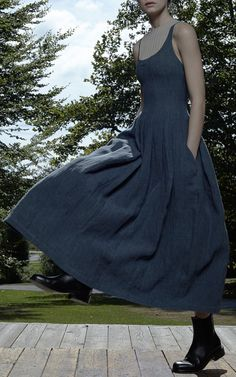 Denim Daphne Dress by Brock for Preorder on Moda Operandi