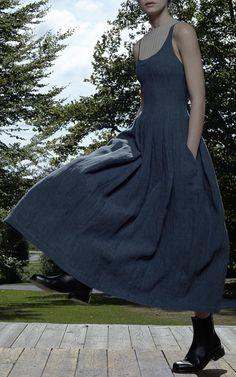 Denim Daphne Dress by Brock for Preorder on Moda Operandi