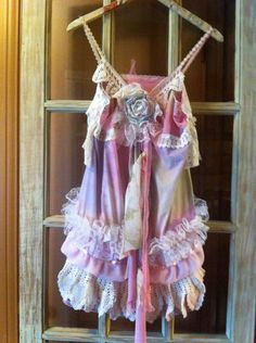 CUSTOM romantic shabby chic 1, french country, WEDDING, BRIDESMAID, mori, cowgirl, garden party, bayou, handdyed, ruffle, tattered, dress. $56.00, via Etsy.