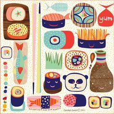 designs from ecojot designer Carolyn Gavin - BLOG - SushiFun!