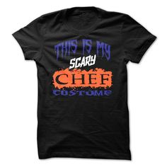 New Design. Limited Edition: This Is My Scary Chef Costume Halloween Tee.