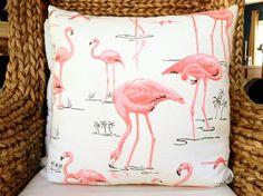 Pink Flamingo 20x20  Decorative Pillow Cover, Throw Pillow ,Toss Pillow, Accent Pillow