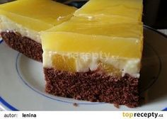 Ananasový pudinkový moučník recept - TopRecepty.cz Other Recipes, Sweet Recipes, Jacque Pepin, Czech Recipes, Sweet Cakes, Something Sweet, Desert Recipes, Cheesecake, Food And Drink