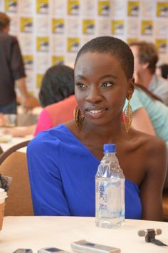 Danai Gurira. Good great g-d this woman is 18 kinds of gorgeous.