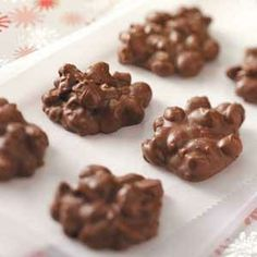 Toffee Peanut Clusters Recipe from Taste of Home -- shared by Joy Dulaney of Highland Village, Texas