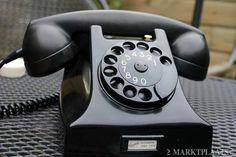Antieke bakelieten telefoon uit de jaren 50 60 GERESTAUREERD