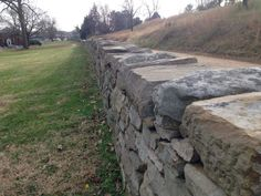 The Stonewall, Maryes Heights, Fredericksburg, Virginia. It was behind this wall that Confederate infantry stood and fired on United States Army troops of among others the Irish Brigade.