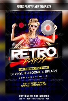 Party Flyer — Photoshop PSD #party #dj • Available here →…