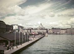 Eteläsatama olympialaisten aikaan Helsingin kaupunginmuseo Olympia-kuva Oy 1952