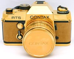 Contax RTS 35mm SLR Film Camera Zeiss 50mm F 1 4 Lens Gold Limited C 80056