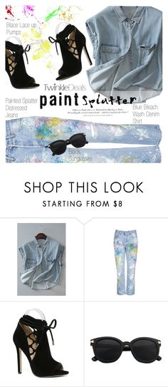 """""""Make a Splash With Paint Splatters"""" by vanjazivadinovic ❤ liked on Polyvore featuring Rialto Jean Project, H&M, paintsplatter, polyvoreeditorial, Poyvore and twinkledeals"""
