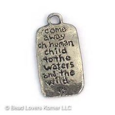 """Faerie Realm Pendant Back, """"Come away oh human child..."""""""