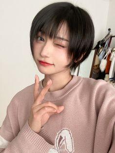Short Straight Hair, Girl Short Hair, Short Hair Cuts, Straight Hairstyles, Girl Hairstyles, Cute Asian Girls, Cute Girls, Cool Girl, Mode Kawaii
