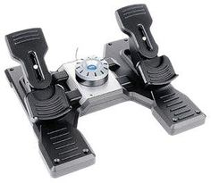 Saitek Pro Flight Rudder Pedals  Complete your virtual pilot's controller setup and take flight simulation reality to the next level with the Pro Flight Rudder Pedals. Control the rudder and toe brakes of your aircraft with your feet – just like real pilots. Adjustable, smooth action gives you optimum control and realism, and brings you even closer to the experience of flying a real aircraft. Self-centring pedals with adjustable damping / Foot rests adjust to fit all sizes and includ..
