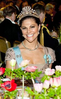 Crown Princess Victoria at the 2010 Nobel Banquet.