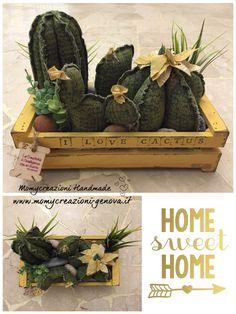 Focà – Home … - Cactus Ideen 2020 Cute Crafts, Felt Crafts, Decor Crafts, Diy And Crafts, Cactus Craft, Cactus Decor, Felt Flowers, Fabric Flowers, Cactus Photography