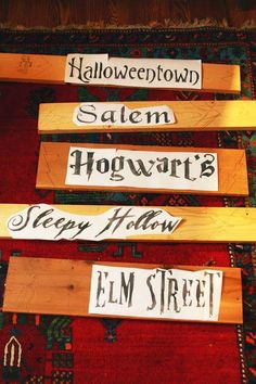 diy halloween yard sign from scraps, crafts, halloween decorations, seasonal holiday decor, I found free fonts online printed them out and fit them to wood scraps Diy Halloween Yard Signs, Casa Halloween, Diy Halloween Decorations, Halloween Town, Holidays Halloween, Halloween Crafts, Happy Halloween, Halloween Stuff, Halloween Movies