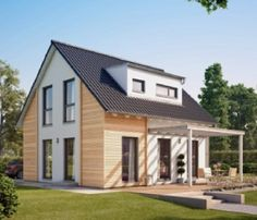 Modernes Einfamilienhaus mit Terrasse und Garten - Haus Solution 106 - V3 - Architektur Living Haus