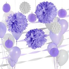 1000 images about pam 39 s purple shower on pinterest - White and purple decorations ...