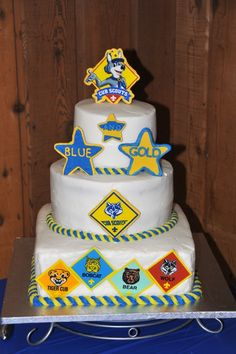 Cub Scouts Blue and Gold Celebration Cake