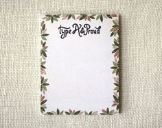 type A & proud notepad | Wit & Whistle