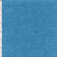 Quilter's Linen by Robert Kaufman ~ Actually its 100% cotton, but has a printed pattern that gives the textured look of linen! Follow this pin to see the entire collection in a rainbow of colors at the Fabric Shack!