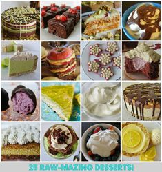 25 Raw-mazing Desserts by Kathy Patalsky of Lunchbox Bunch via Babble | #vegan #recipe