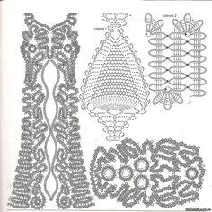 Idéias para crochetar: Vestido Crochê Renda de Bruges!! maravilhoso.  Obrigado a todos que nos seguem e nos visitam!!!
