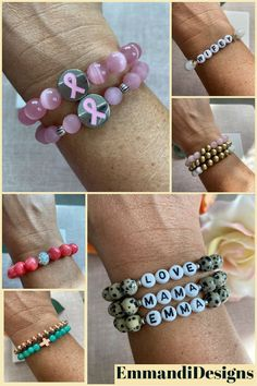 Gift ideas for everyone on your Christmas list! Custom handmade beaded braceletes. Show your loved ones how much you care about them with one of a kind, unique gifts for eveyone on your list. Gifts for mom, sister, best friend, daughter, husband, son, dad.