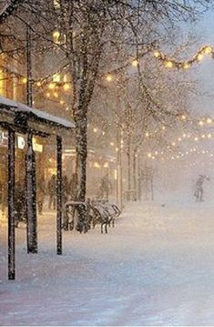 Beautiful snowy town