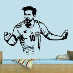 Avalon Vinilos Decorativos Leo Messi Futbol $335
