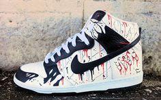 "Nike Dunk High ""Manslaughter"" Custom"