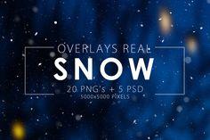 Real Snow Overlays on Behance