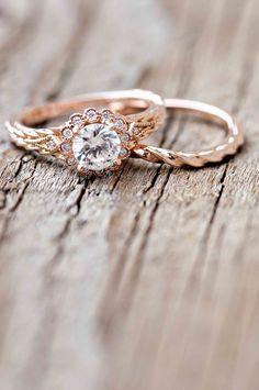 Wilson Diamonds: Ring Style Number R5526E #rosegold #scallopedring #vintagering