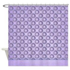 Christmas Purple Wreath Shower Curtain > Christmas Holiday > MarloDee Designs Shower Curtains