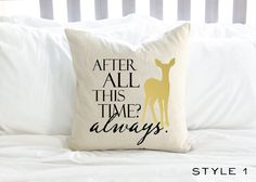 Harry Potter After All This Time Always Pillow 2 by AndersAttic