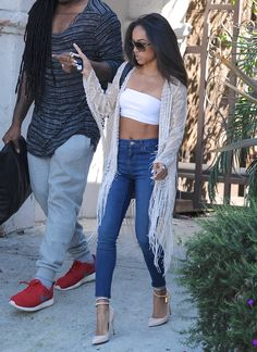 "celebritiesofcolor: ""Karrueche Tran out in Los Angeles """