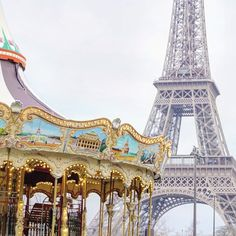 carousel by the Eiffel Tower iconic photo locations in paris