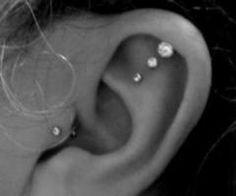 pretty triple piercing