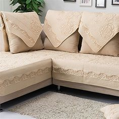 quilted embroidery sectional sofa couch slipcovers furniture protector cotton delta 30 best images on pinterest for chairs discounted ostepdecor multi size pet dog all seasons embroidered rose protectors covers loveseat