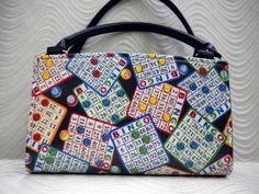 Bingo Handmade Custom Shell fits Magnetic Classic Base Bag Purse