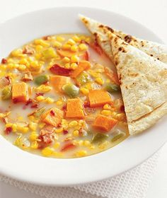 Monterey Jack Quesadillas by Real Simple. MyRecipes recommends that you make this Monterey Jack Quesadillas recipe from Real Simple Sweet Potato Chowder Recipe, Fun Cooking, Cooking Recipes, Cooking Ideas, Healthy Recipes, Grilling Recipes, Healthy Snacks, Yummy Food, Tasty
