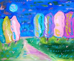 abstract, impressionist, art, painting, decorative, simple. acrylic