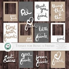 Thank You for Being a Friend freebie from Little Lamm  Co. for reaching 1000 Facebook likes.  Includes digital cards in textured and non, PNGs, Printable PDFs, and a Silhouette cut file! DOWNLOADED