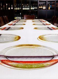 Custom design showplates. Image taken at Jaques Reymonds Restaurant, Melbourne.