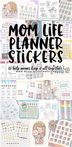 Mom Life Planner Stickers to Help Moms Keep Their Lives In Order – My So-Called Chaos Are you a busy mom that has a hard time keeping track of everything? These planner stickers will help you keep track of all the things you need to regarding your kids. Kids Planner, School Planner, Study Planner, Free Planner, Happy Planner, Monthly Planner, Planner Ideas, Nail Swag, Pregnancy Planner