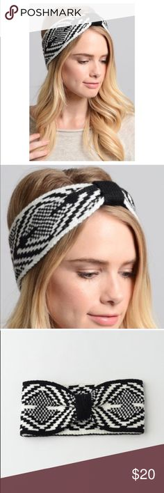  Fair Isle Ear Warmer Headband NEW! Aztec print in beautiful black/white to match all of your favorite cold weather outfits! Keep warm on the slopes or walking around campus without messing up your curls Material: 100% acrylic Fair Isle Accessories Hair Accessories