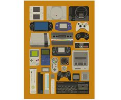 Videogames Digital Poster par CristinadeVicente sur Etsy, $20.00